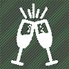 white champagne glasses
